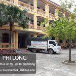 Taxi tải Phi Long cho thuê xe tải giá rẻ nhất tại phố Hoàng Đạo Thành