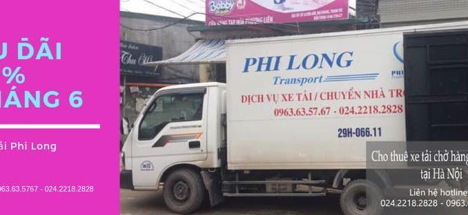 Dịch vụ taxi tải Hà Nội tại phố Nghi Tàm 2019