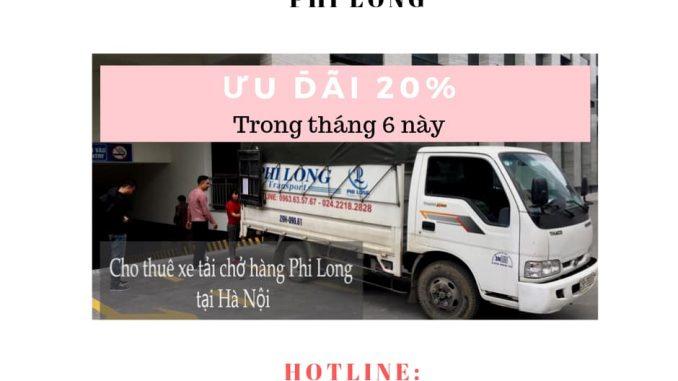 Dịch vụ taxi tải Hà Nội tại phố Trần Đăng Ninh