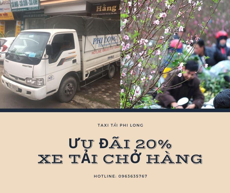 Taxi tải chở hàng tết giá rẻ Phi Long phố Kim Mã Thượng