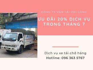 Dịch vụ taxi tải Phi Long tại xã Quất Động