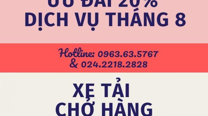 Dịch vụ taxi tải tại xã Đại Thắng